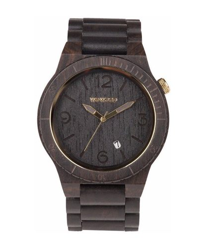 WeWood Alpha Black Gold Watch
