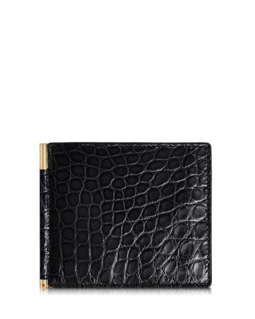 Tom Ford Alligator Money Clip Bifold Wallet