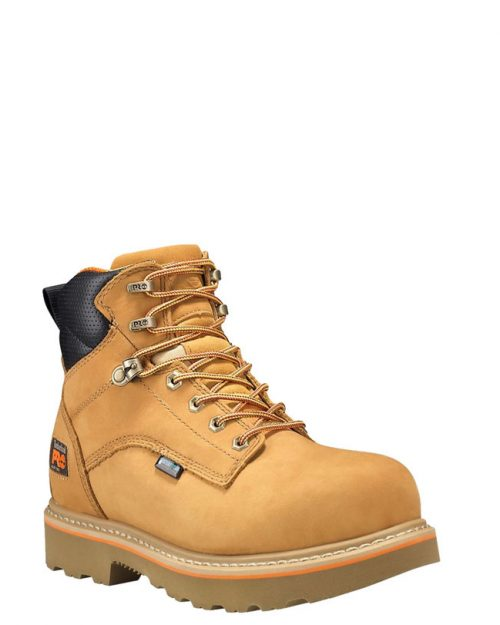 "Timberland Pro Ascender 6"" Alloy Toe Wheat Nubuck Work Boots"