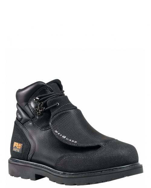 "Timberland Pro Met Guard 6"" Black Steel Toe Work Boots"