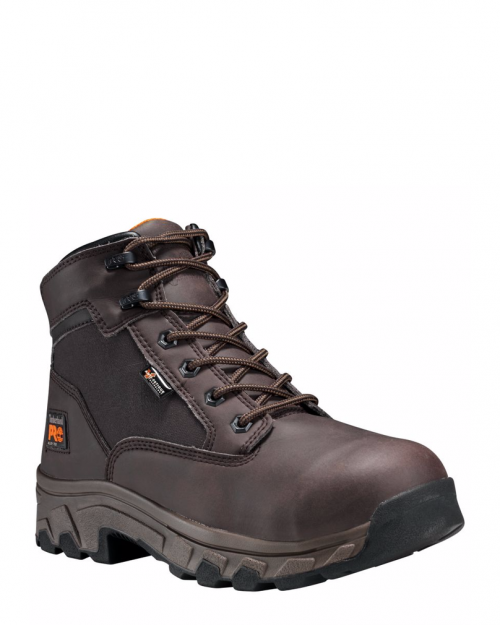 """Timberland Pro Linden 6"""" Brown Alloy Toe Work Boots"""
