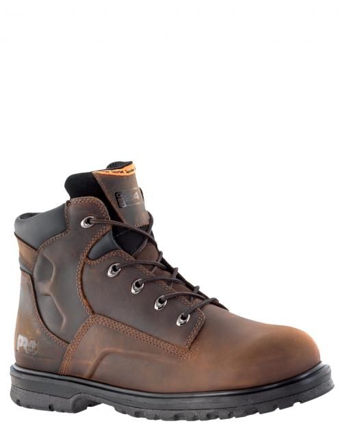 "Timberland Pro Magnus 6"" Brown Steel Toe Work Boots"