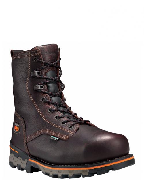 "Timberland Pro 8"" Boondock Brown Full-Grain Toe Work Boot"