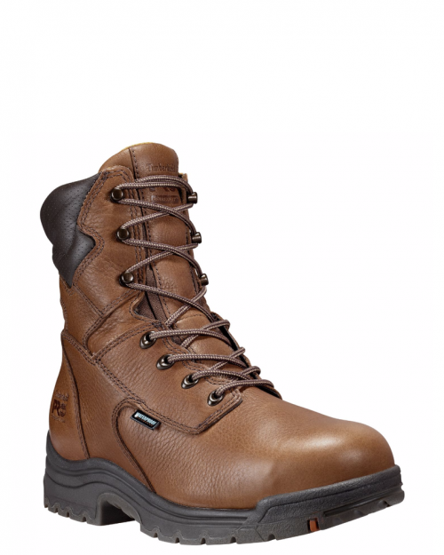 "Timberland Pro 8"" Titan Capuccino Full-Grain Alloy Toe Work Boot"