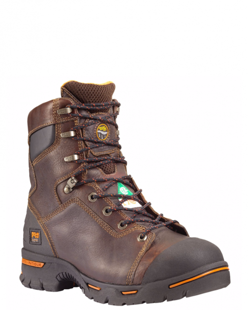 "Timberland Pro 8"" Endurance Briar Brown Steel Toe Work Boot"