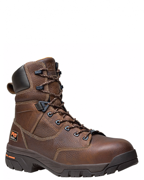 "Timberland Pro 8"" Helix Brown Full-Grain Comp Toe Work Boot"