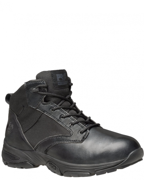 "Timberland Pro 5"" Valor Black Microfiber Soft Toe Work Boots"