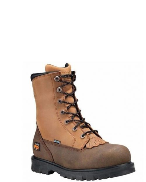 "Timberland Pro 8"" Rigmaster Brown Full-Grain Steel Toe Work Boot"