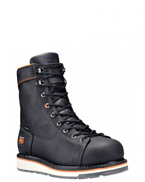 "Timberland Pro 8"" Gridworks Black Alloy Toe Work Boots"