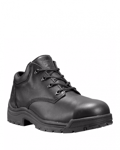 "Timberland 8"" Titan Black Smooth Alloy Toe Work Boots"