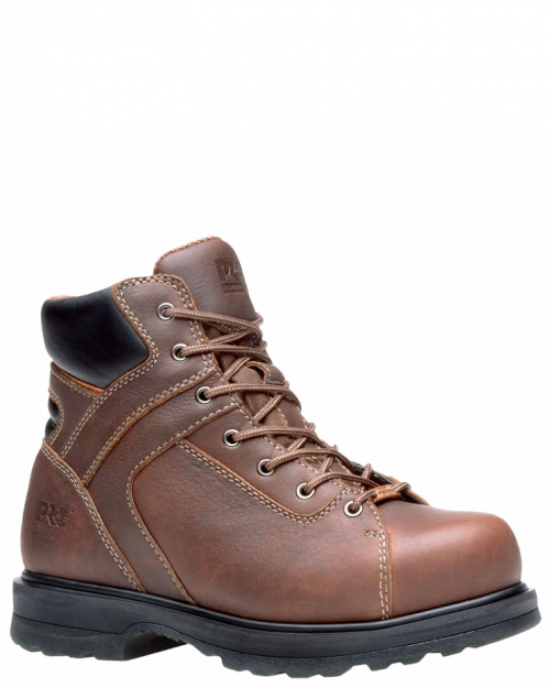 "Timberland Pro 8"" Rigmaster Red Brown Alloy Toe Work Boots"