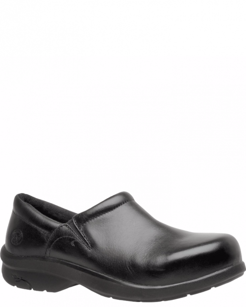Timberland Pro Newbury Black Full-Grain Alloy Toe Slip-on Work Shoes