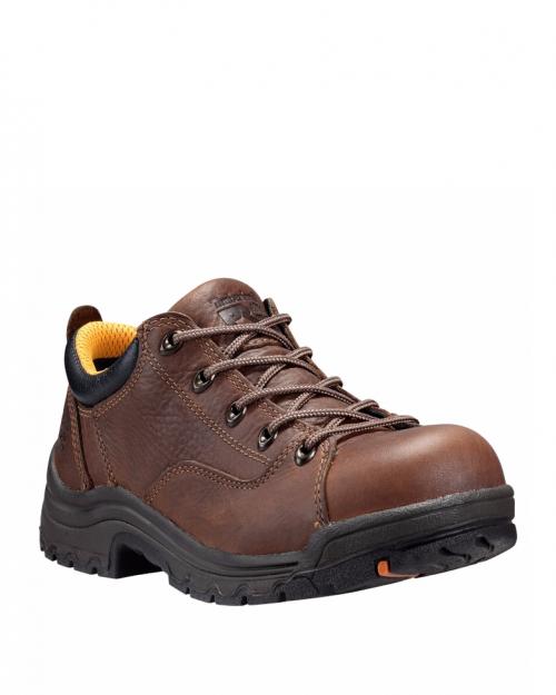 Timberland Titan Brown Full-Grain Alloy Toe Work Shoes