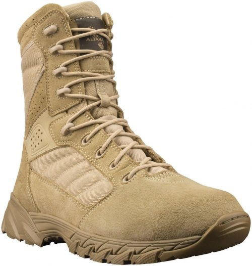 "Altama Foxhound 8"" Tan Suede Military Boots"