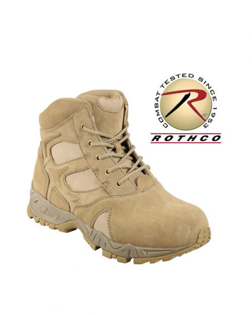 """Rothco 6"""" Forced Entry Desert Tan Deployment Boots"""
