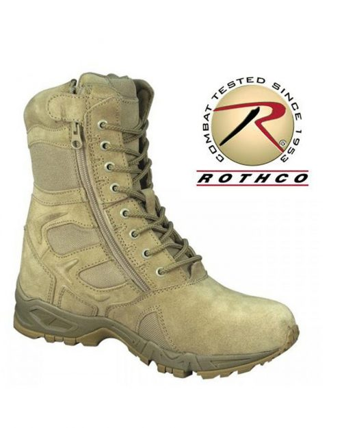 """Rothco 8"""" Forced Entry Desert Tan Deployment Boots"""