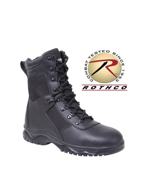 """Rothco 8"""" Black Side Zip Tactical Boots"""