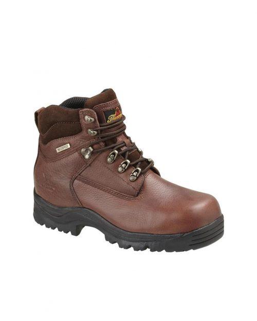 "Thorogood 6"" Brown Boxer Oblique Waterproof Hiker CT"