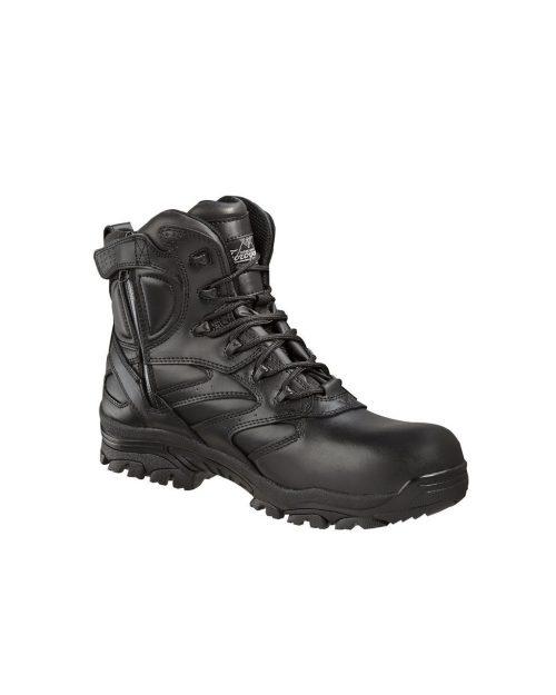 "Thorogood 6"" The Deuce Leather CT SZ Waterproof Black Work Boots"