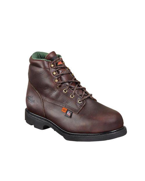"Thorogood 6"" I-Met HR Brown Work Boots"