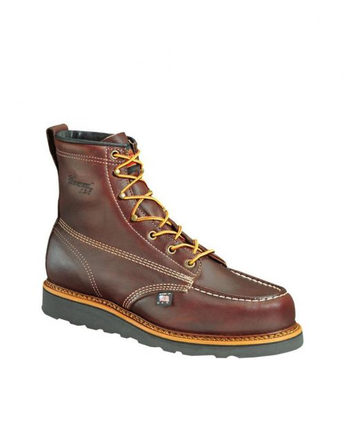 "Thorogood 6"" American Heritage Moc Toe Black Walnut Work Boots"