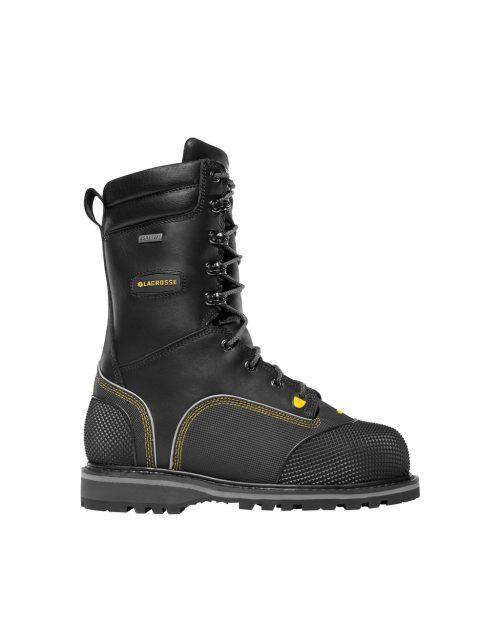 """LaCrosse Longwall II 10"""" Black Industrial Boots"""
